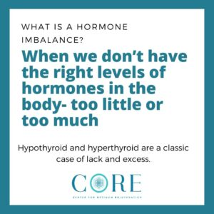 Hormone Balance- Having the right amount of hormones in the body