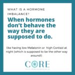 Hormone Balance- Hormones behaving the way they're supposed to